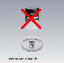 solo gomma per printer 54 oval