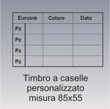 timbro a caselle 85x55 mm