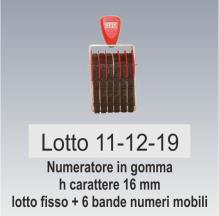 Timbro speciale lotto e data
